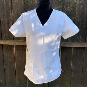 SB Scrubs - White Scrub Top